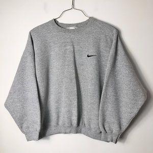 Vintage nike gray crewneck sweatshirt